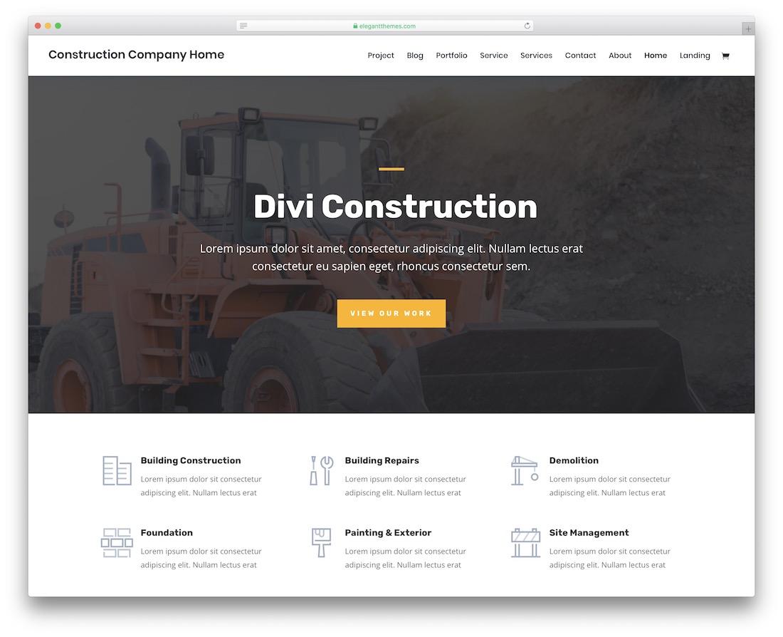 优秀免费建设网站模板欣赏