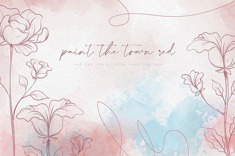 水彩花卉背景柔和的颜色免费矢量