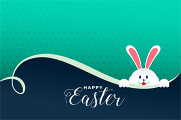 可爱的兔子窥视复活节天背景免费矢量