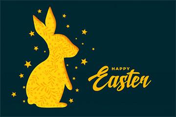兔子和明星复活节庆祝活动背景免费矢量