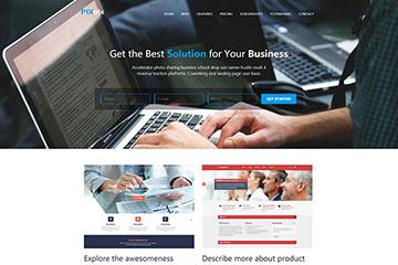 大气漂亮的网站设计公司官网模板