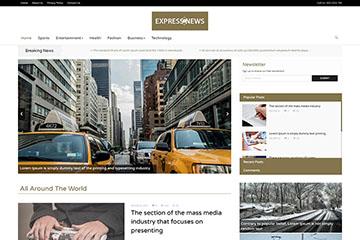 新闻网站模板-整站模板