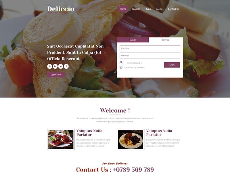 紫色西餐厅响应式企业网站模板-上海网站建设|网站建设专家|免费素材下载-综讯科技