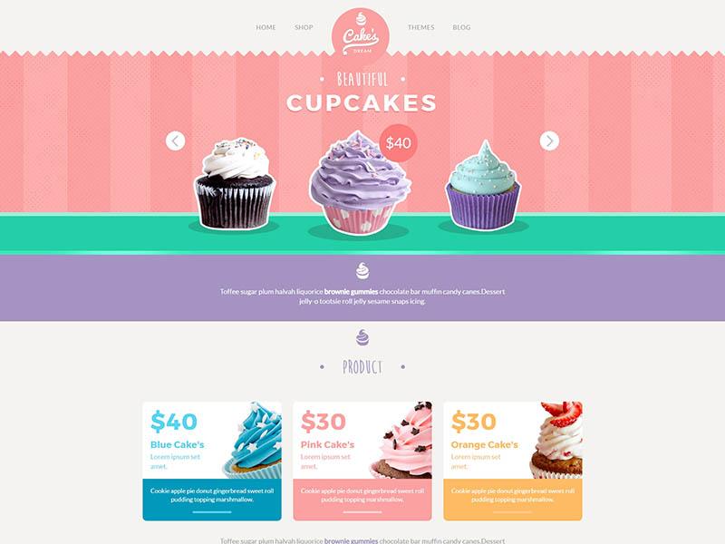 响应式甜品网上商城模板-上海网站建设|网站建设专家|免费素材下载-综讯科技